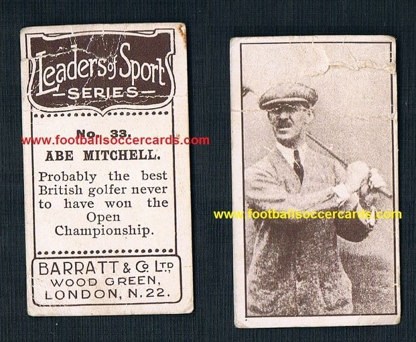 1927 Abe Mitchell golfer Barratt Leaders of Sport poor