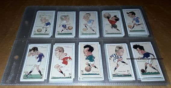 "1927 Dixie Dean *SET"" Mac caricatures of footballers by Players Tobacco 50 cards circa VG condition"
