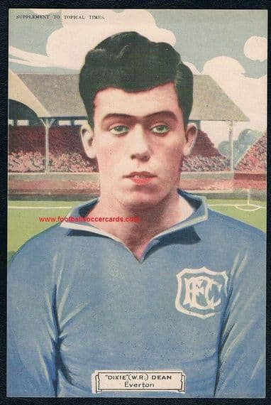 1928 Dixie Dean Everton very rare paper supplement given by Topical Times