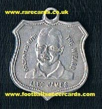 1929 Wizard medallion James Arsenal