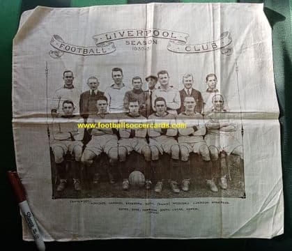 1930 Liverpool commemorative silk handkerchief ORIGINAL