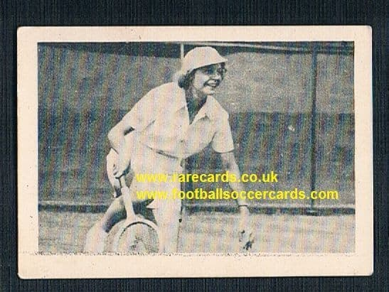 1930's South African Tobacco Cape Town World of Sport Alice Marble 55 tennis card