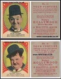 1930 Shelby Gum pair Laurel  & Hardy