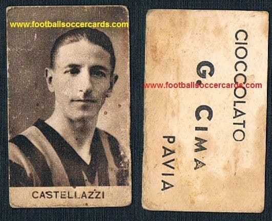 1930s Armando Castellazzi of INTER, a playing WORLD CUP WINNER in 1934