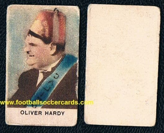 1930s Laurel & Hardy trade card of Oliver from Italy, colour Ollie