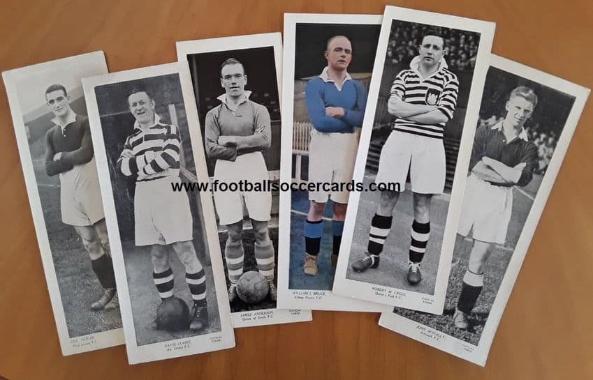 1930s Scottish issues 6 Topical Times cards Ayr 3rd Lanark Albion Rovers Arbroath Queen's Park South