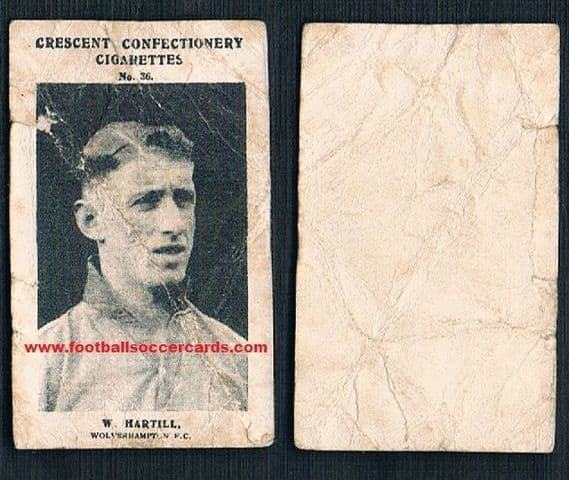 1931 Billy Harthill Wolves Everton Liverpool Crescent confectionery card