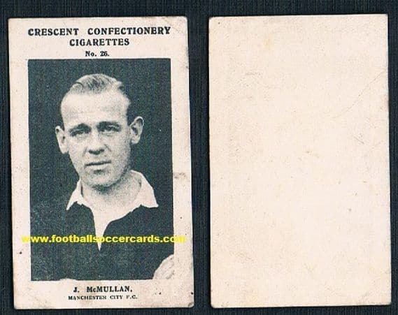1931 Jimmy McMullen THE LEGEND Manchester City & Partick, Scotland all time great