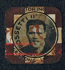 1933 the LEGEND Gino Rossetti Golden Boot for Torino, on a very rare metal card