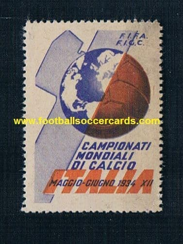 1934 Italian fascist World Cup original cinderella poster stamp FIFA WC34