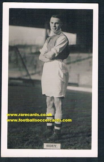 1934 Norman Sidey Arsenal pc L&J