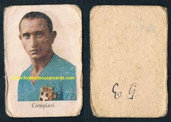 1934 WC34-issue Dario Compiani of AC Milan as a prospective World Cup goalie