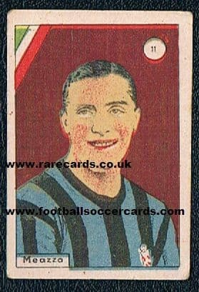 1938 Meazza Balilla flag card