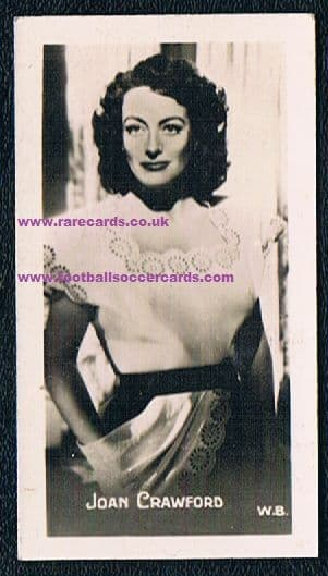 1940s Joan Crawford trade card European