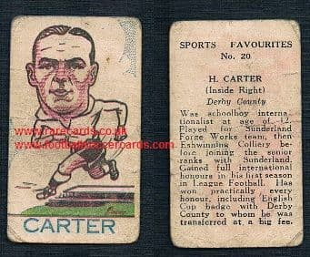 1946 A J Donaldson big head football favourites 1st series Derby County 20 Raich Carter Hull, Boro
