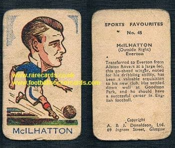 1946 A.J. Donaldson big head football favourites 4th series McIlhatton Everton 45
