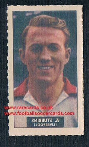 1948 Barratt WHC transfer decal Albert Stubbins Liverpool