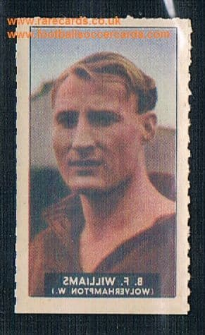 1948 Barratt WHC transfer decal Bert Williams Wolves