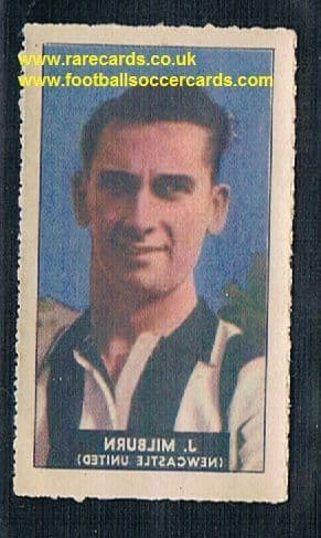 1948 Barratt WHC transfer decal Jackie Milburn NUFC Newcastle United