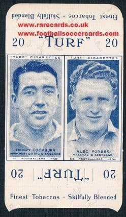 1948 Carreras packet 2 Arsenal Man U