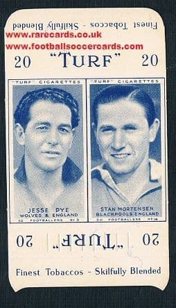 1948 Carreras packet 2 Wolves Blackpool
