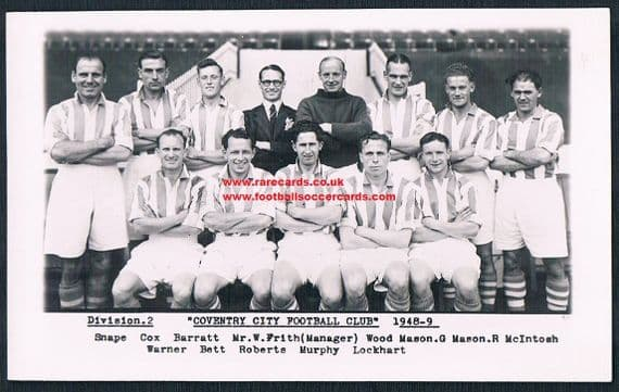 1948 Coventry City Wilkes card