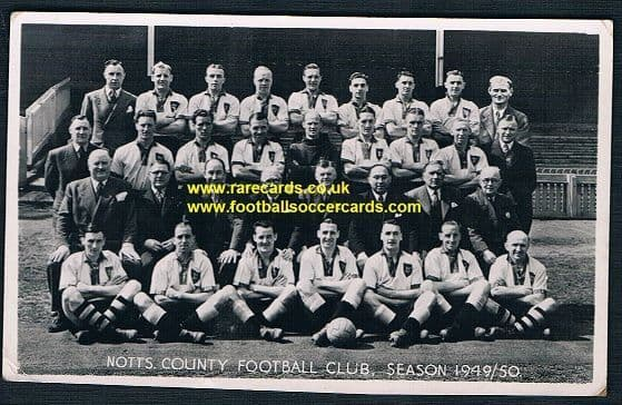 1949 1950 Notts County postcard by Tempest with Tommy Lawton