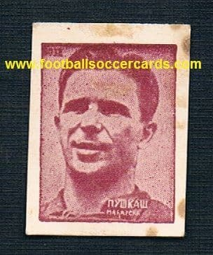 1950 52 Puskas in Honved kit HUNGARY 1039 card from Yugoslavia