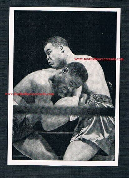 1950 excellent Joe Louis boxing rarity UNused Knorr Soups sticker 14 W.Germany