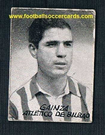 1950 Gainza card from the rare Figuras del Futbol series by an unknown issuer only sold in Spain