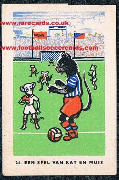 1950 Rizla cat mouse football kat maus