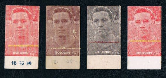 1950 's Real Madrid Molowny 4 different weight cards made in 1950 various backs