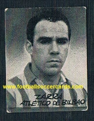 1950 Zarra card from the rare Figuras del Futbol series by an unknown issuer only sold in Spain