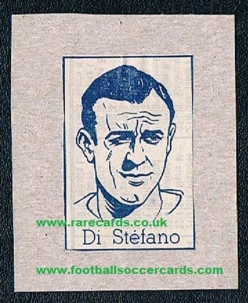1950s comic card Di Stefano original
