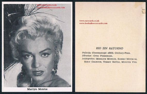 1950s Marilyn Monroe River of no return SPAIN