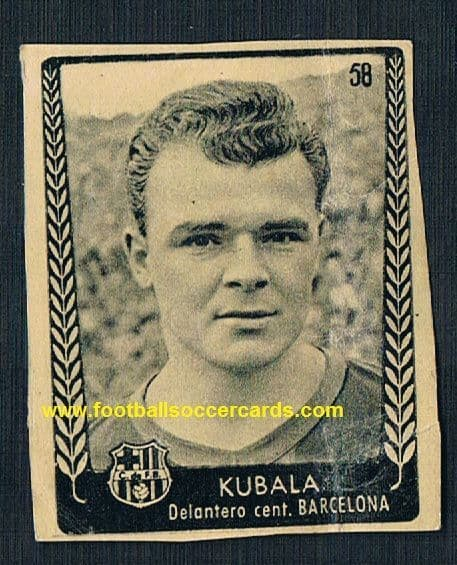1953 Kubala Bruguera not usual issue this was CUT FROM A SUPPLEMENT AS INTENDED Ases 53