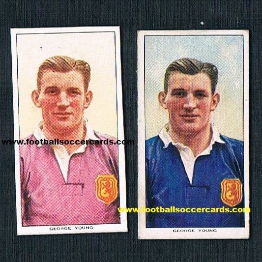 1954 George Young PROMO pair Most Capped Scottish star, Rangers legend