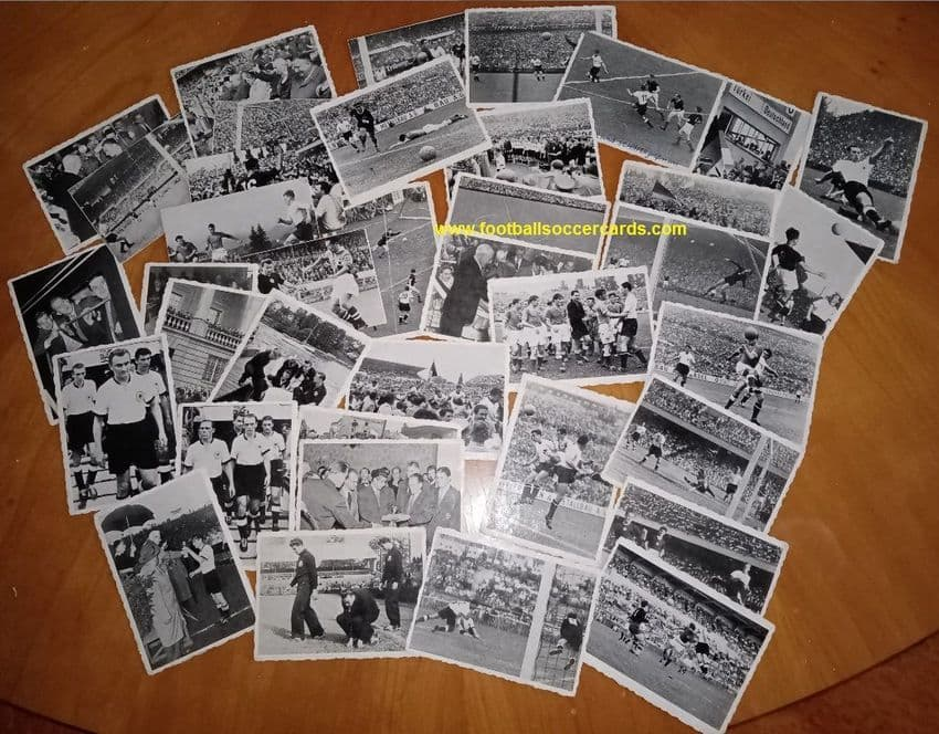 1954 World Cup WS Verlag deckled-edge 36 mixed condition damaged AMR West Germany Hungary RARITIES!