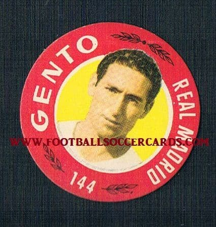 1955 Gento Real Madrid Flying Saucer card Bruguera