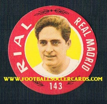 1955 Rial Argentina Real Madrid Flying Saucer card by Bruguera