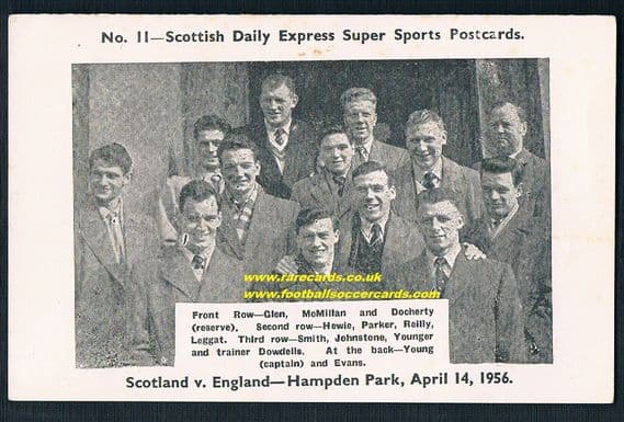 1956 Scotland Hampden Park Daily Express
