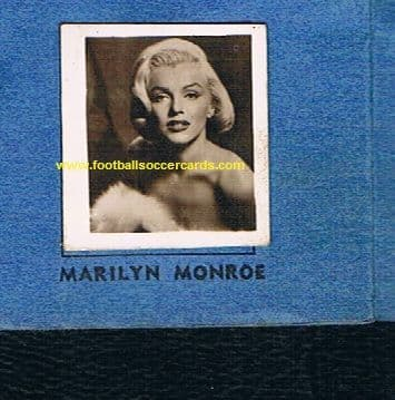 """1957 Marilyn Monroe & 70+ stars in a Wow Gum album, """"Favourites of the Screen"""" by Colinville Tooting"""
