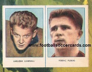1957 Puskas original fully UNCUT pair still on fully uncut REKORD full cover