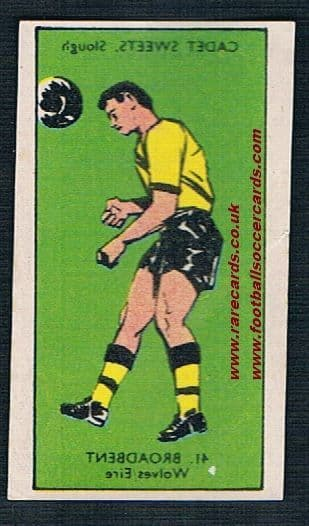 1958 Cadet transfer Peter Broadbent Wolves &  Ireland