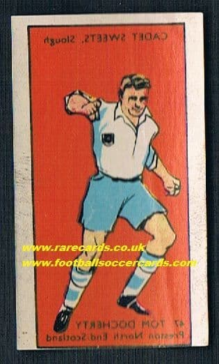 1958 Cadet transfer Tommy Docherty Preston Celtic Arsenal Chelsea man U unused as new