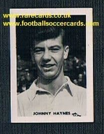1958 Colinville Footer Foto Gum card British International Football Stars Fulham Johnny Haynes