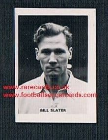 1958 Colinville Footer Foto Gum card Football Stars Bill Slater Wolves Brentford Blackpool