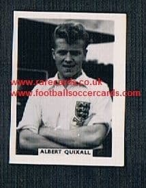 1958 Colinville Footer Foto Gum card International Football Stars Albert Quixall Wednesday Man Utd19