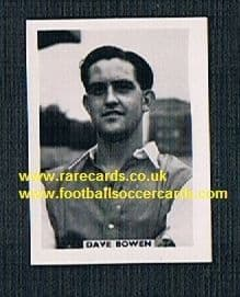 1958 Colinville Footer Foto Gum card International Football Stars Dave Bowen Arsenal