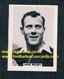 1958 Colinville Footer Foto Gum card International Football Stars Jack Kelsey Arsenal